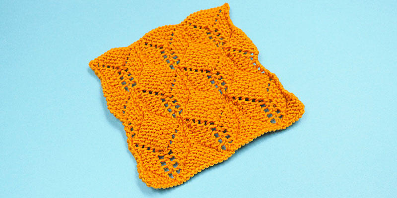 3D Cubes - Highly Textured Stitch Pattern for Blankets, Scarves and Cowls